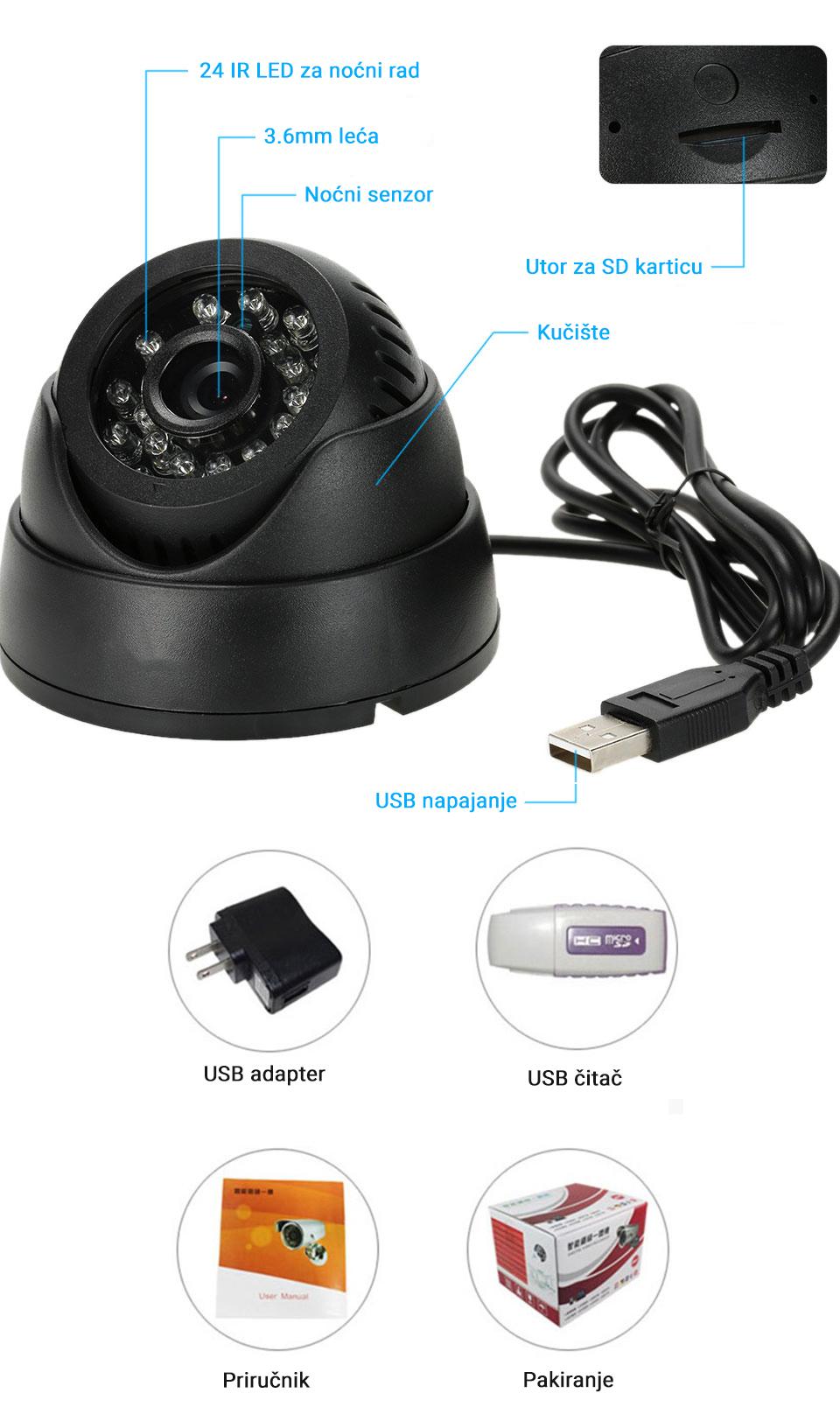 Nadzorna kamera Levco eCam-802 2